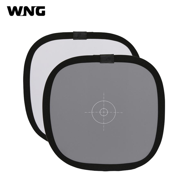 "30CM/12"" Foldable 18% 18 Degree Grey Reflector Card Grey/White Reference Card  Photo Studio Accessories"