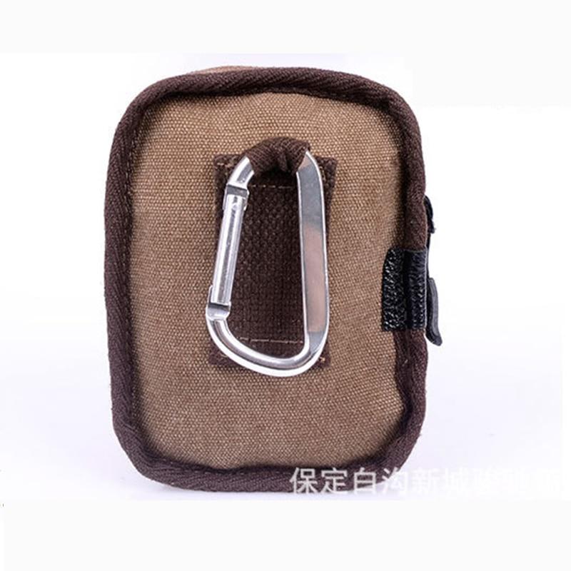 Canvas phone cigarette big Capacity small men belt waist bag coin letter pack run Mountain climbing outdoor heuptas zipper purse in Waist Packs from Luggage Bags