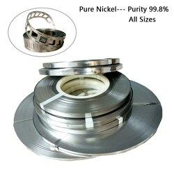 1kg Reinem Nickel 99.96% Hohe Reinheit Reinen Nickel Streifen Für 18650 Batterie Spot Schweißen Alle Größe Lithium-Batterie Platte nickel Streifen