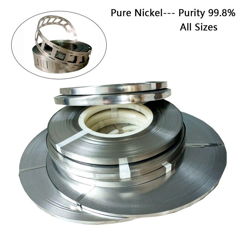 Tira pura do níquel da pureza alta de 1kg 99.96% puro para a soldadura do ponto da bateria 18650 todo o tamanho tiras do níquel da placa da bateria do lítio