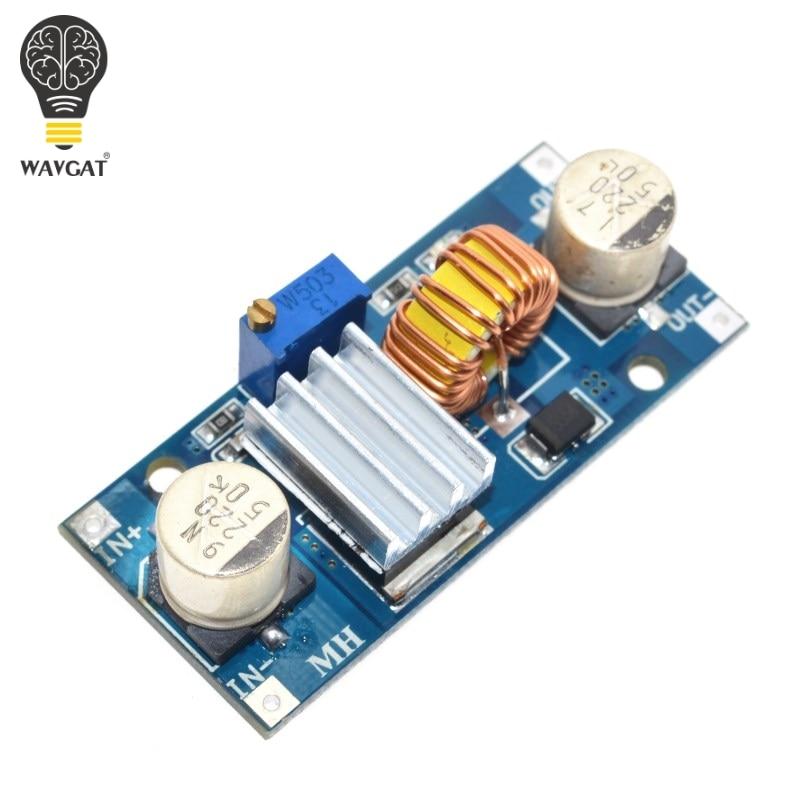 Понижающий Регулируемый Модуль питания 5A XL4015, светодиодсветодиодный литиевое зарядное устройство с радиатором, с 4-38 в до 1,25-36 в 24 в 12 В 9 в 5 В