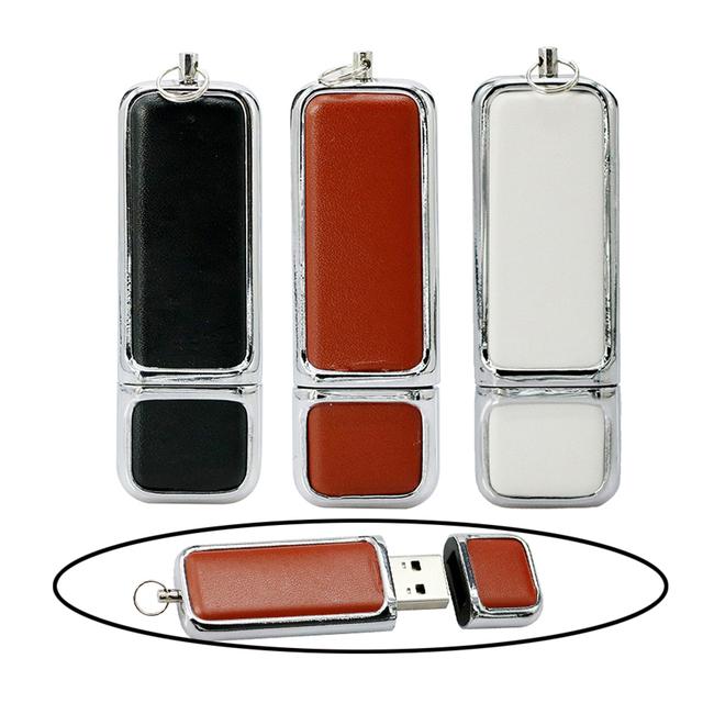Leather Bracelet with USB Flash Drive Storage Device