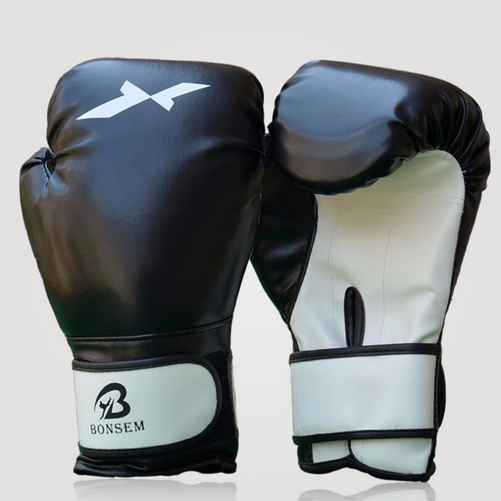 1 Pair Training Boxing Gloves New Style Boxing Mitts Sanda Karate Sandbag Taekwondo Fighting Hand Protector Gloves 1