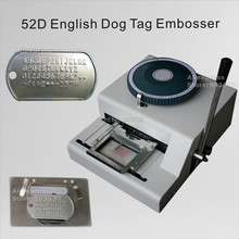 Фабрика низкая цена 52 код буквы руководство GI номер из нержавеющей стали аппарат для тиснения Военная армейская собака бирка машинка для тиснения