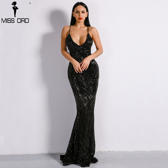 850583486b US $45.49 9% OFF|Missord 2019 Sexy Deep V Off Shoulder Backless Vestidos  Summer Dresses Sequin Maxi Women Party Dress FT8379-in Dresses from Women's  ...