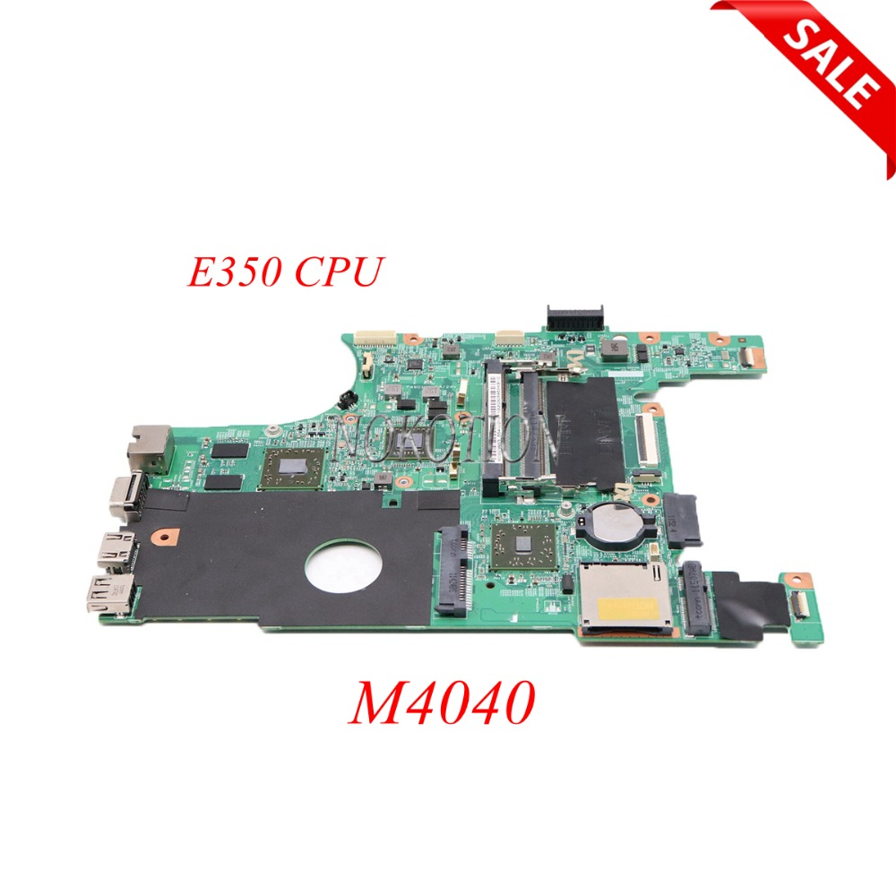 NOKOTION CN-0TFH13 TFH13 laptop motherboard for DELL Inspiron M4040 E350 CPU DDR3 ATI Mobility Radeon HD 6310M+7450M Main boardNOKOTION CN-0TFH13 TFH13 laptop motherboard for DELL Inspiron M4040 E350 CPU DDR3 ATI Mobility Radeon HD 6310M+7450M Main board