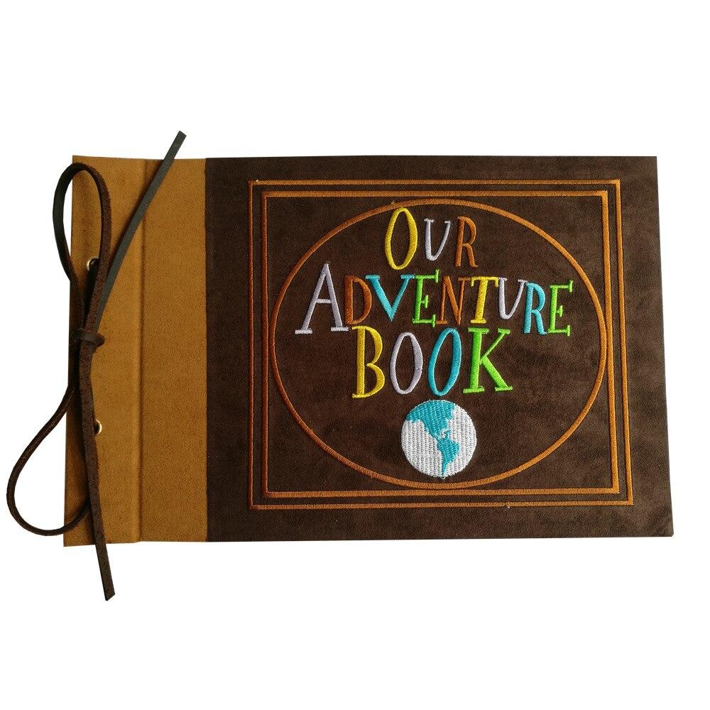 Вышитые наше приключение книги, замша в твердом переплете записки, 11.6x7.5 дюйма (узор)