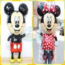 Mickey Minnie Mouse foil Balloons 2pcs/lot large 110*64cm Red bowknot minnie Classic Toys Birthday Party Supplies ballon