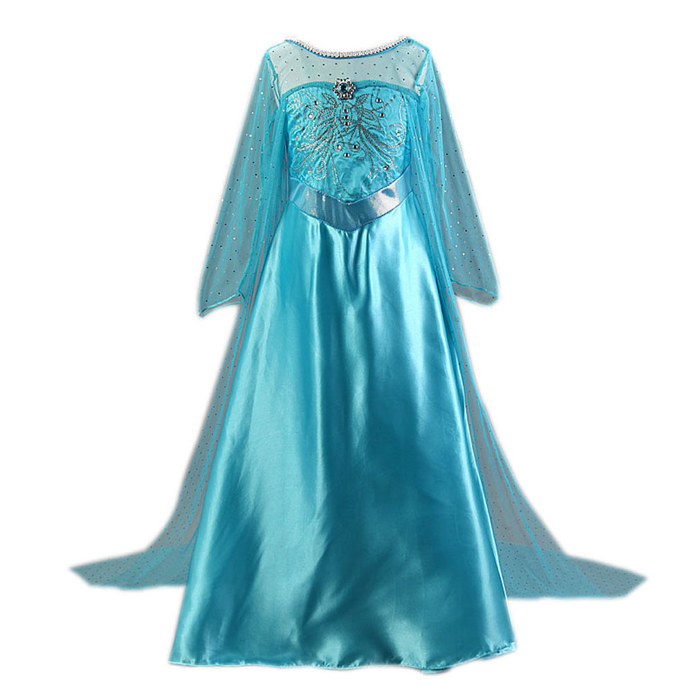 HTB1NBfgXLvsK1Rjy0Fiq6zwtXXaW Tiange Wedding Elsa Anna Dress Girls Costume Cute Party Princess Cosplay Baby Dresses Children's Christmas Birthday Set Clothes