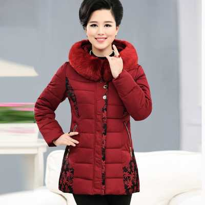 ФОТО XL-4XL Large Fox Fur Collar Mother Clothing Winter Coat Women Thick White Duck Down Plus Size 6XL Jacket Down Parka A4212