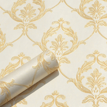 European Style Classic Floral Wall Paper Roll 3D Mural Embossed Wallpapers for Living Room Bedroom Walls Contact