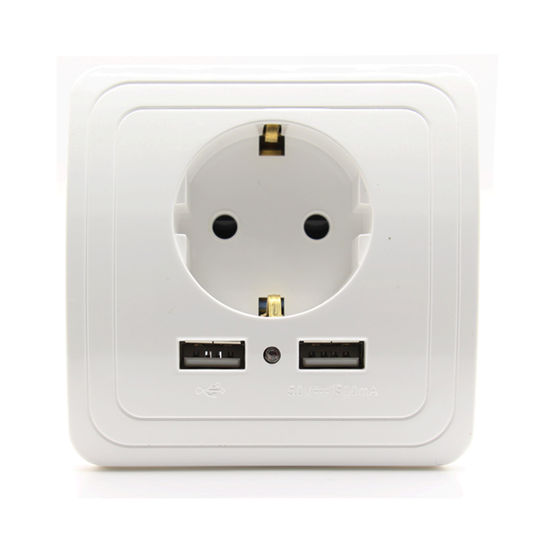 Free Shipping 16A EU Standard Electrical Outlet With 1500mA Dual USB ...