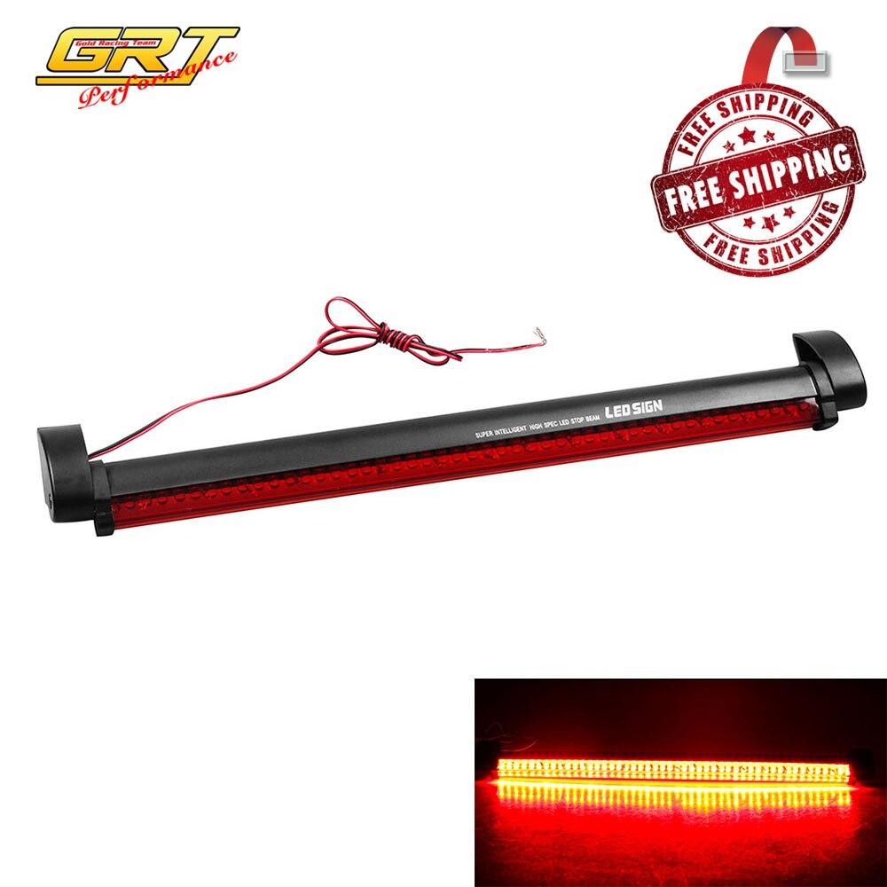 бесплатная доставка красный автомобиль авто третий 3rd brake light 12 в 48 led высокая гора стоп задний хвост предупреждение свет лампы парковка