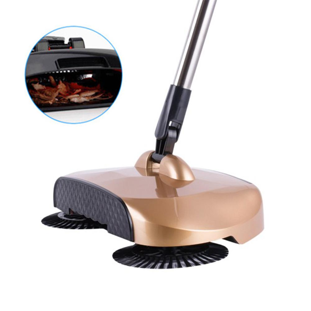 Adeeing Hand Push Type Sweeping Machine Handhold Magic Broom Dustpan Mop Cleaning Tool with 1 Mop Cloth(China)