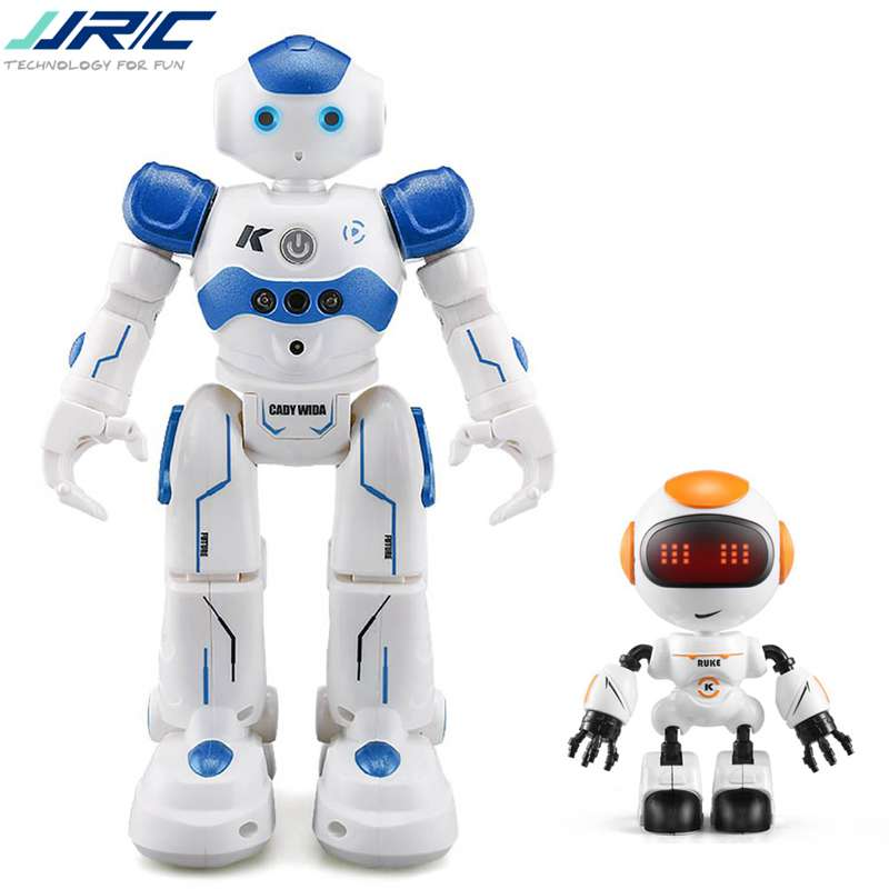 JJR/C JJRC R2 USB Lade Singen Tanzen Gesture Control RC Roboter Spielzeug Blau Rosa Für Kinder Kinder Geschenk präsentiert