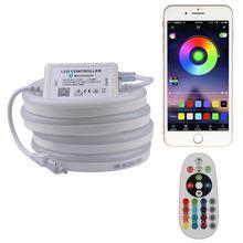 Rất đẹp ỨNG DỤNG và điều khiển từ xa Neon băng mềm neon ánh sáng RGB dây ĐÈN LED 220 V 220 V LED Chống Thấm Nước sọc