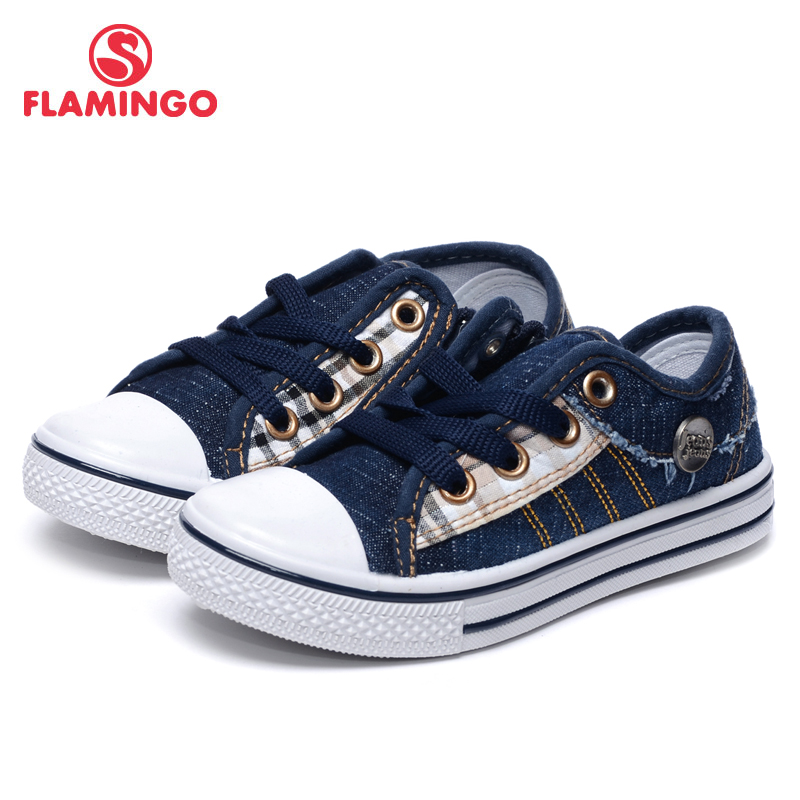 FLAMINGO Brand Spring& Summer Breathable Lace-Up Kids Slip-on Loafers Size 25-30 Fashion Unisex Lazy Outdoor Shoes 71K-TJ-0155 2017 new fashion casual mens shoes spring autumn lace up designer male walking canvas shoes zapatillas deportivas hombre