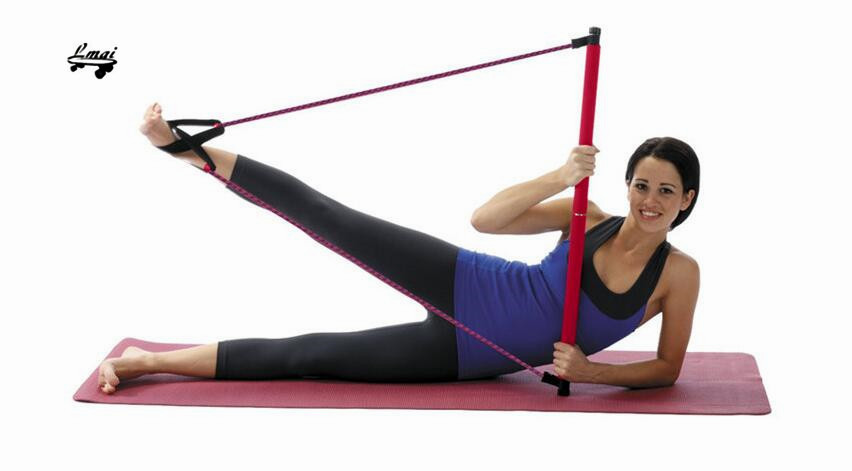 1 set résistance bandes pilates bâton yoga bar crossfit fitness pour unisexe exercice livraison gratuite