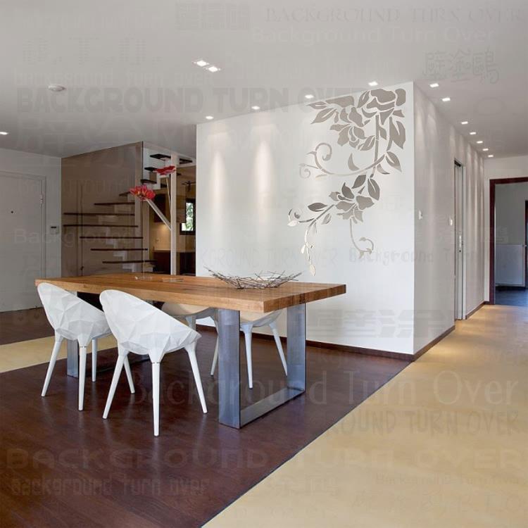 diy primavera planta vivid naturaleza fresca espejo etiqueta de la pared decorativos para la decoracin del