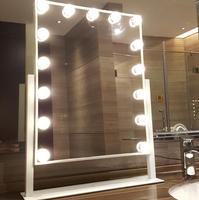 Hollywood Makeup Vanity Mirror with Light Tabletops Lighted Mirror with Dimmer Stage Beauty Mirror 3 W LED bulbs * 15