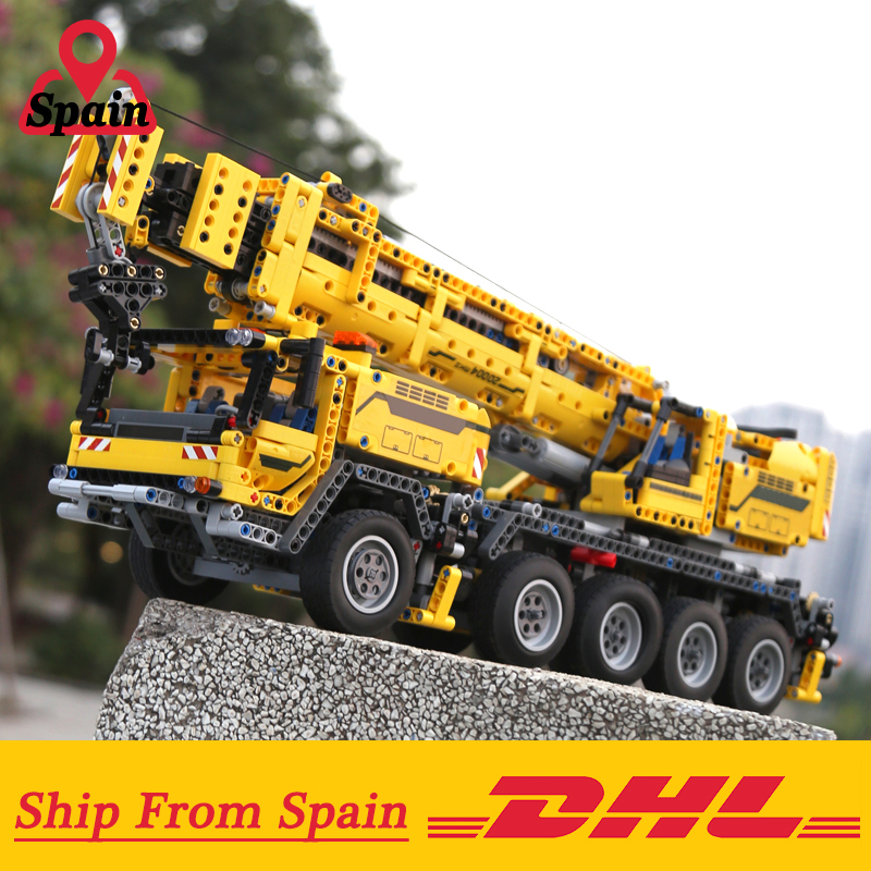 DHL 20004 Technic Motor Power Mobile Crane Mk II Model Building Kits Blocks Bricks Birthday Compatible with Legoings 42009 Toys