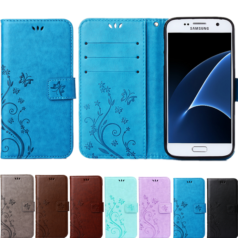 A3 A5 2017 J1 J3 <font><b>J5</b></font> J7 A7 <font><b>2016</b></font> Prime Leather Flip Cover Wallet Case for <font><b>Samsung</b></font> Galaxy S8 S4 S5 mini S6 S7 edge Plus image