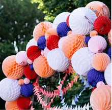 Tissue Paper Honeycomb Ball Pastel Bags Decorations For Party/Baby Shower/Wedding  Mix Size 1pcs/Lot Free Shipping цена и фото