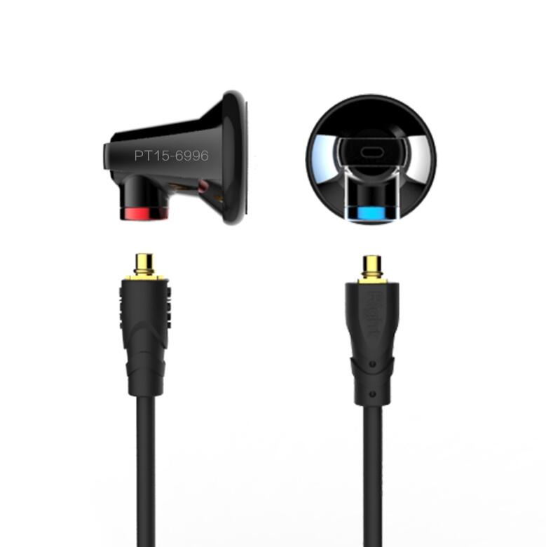 AK New SENFER PT15 Earburd Graphite bush Dynamic Driver In Ear Earphone HIFI Earplhone With MMCX Interface sfr senfer pt25 in ear earphone earburd graphene dynamic driver unit metal earbud hifi earplug with mmcx detachable detach cable