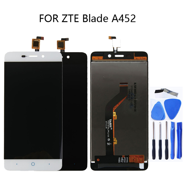 5.0 אינץ עבור zte blade X3 D2 T620 A452 LCD תצוגת מסך מגע digitizer רכיב עבור zte blade X3 Lcd אבזרים טלפון חלקי