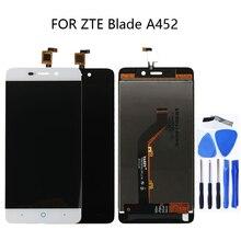 Için 5.0 inç zte blade X3 D2 T620 A452 LCD ekran dokunmatik ekran digitizer bileşeni zte Blade X3 LCD aksesuarları telefon parçaları