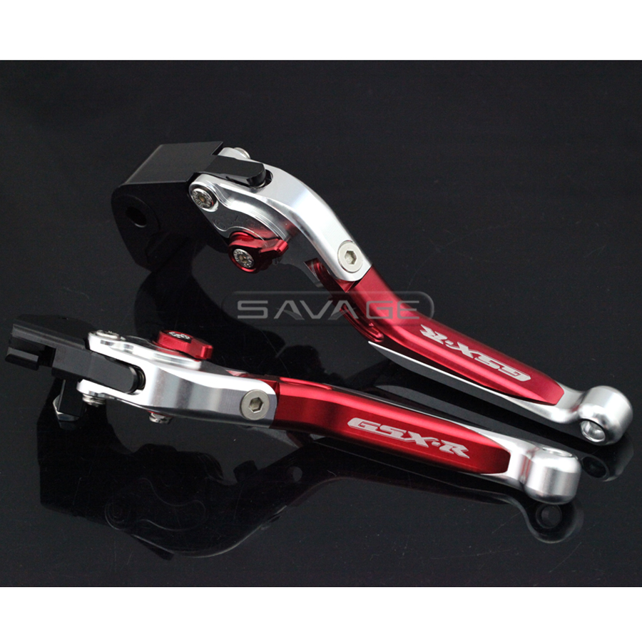For SUZUKI GSX-R GSXR 600/750 GSXR600 GSXR750 2004-2005 Motorcycle Adjustable Folding Extendable Brake Clutch Lever Red+Silver new motorcycle adjustable folding extendable brake clutch lever for suzuki gsxr 600 750 gsxr600 gsxr750 96 03 gsxr1000 01 2004
