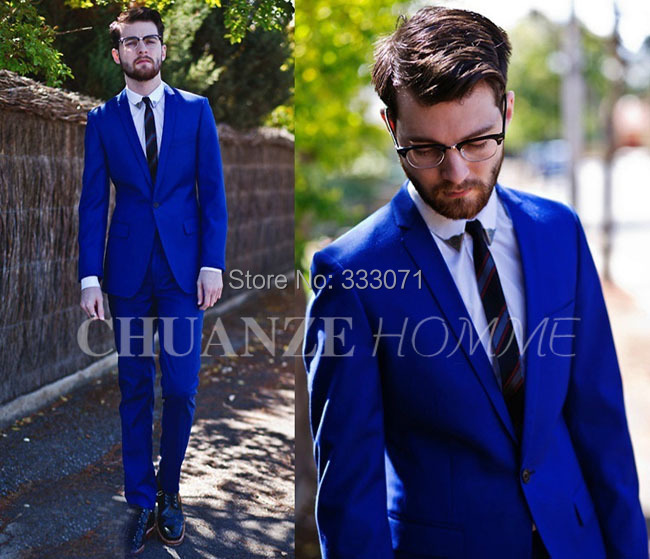 Aliexpress.com : Buy Custom made Hot Slim fit Groom Tuxedos Royal ...