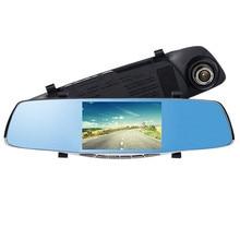 Cheapest prices KROAK 5″ Dual Lens 1080P HD Car DVR Rearview Mirror Recorder Dash Cam Night Vision Camera 170 Degree