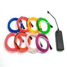 3M 10 colors Car Flexible EL Wire Neon car Light Dance Party Decor Lights Flexible Neon lamps EL Wire Rope Tube with Controller