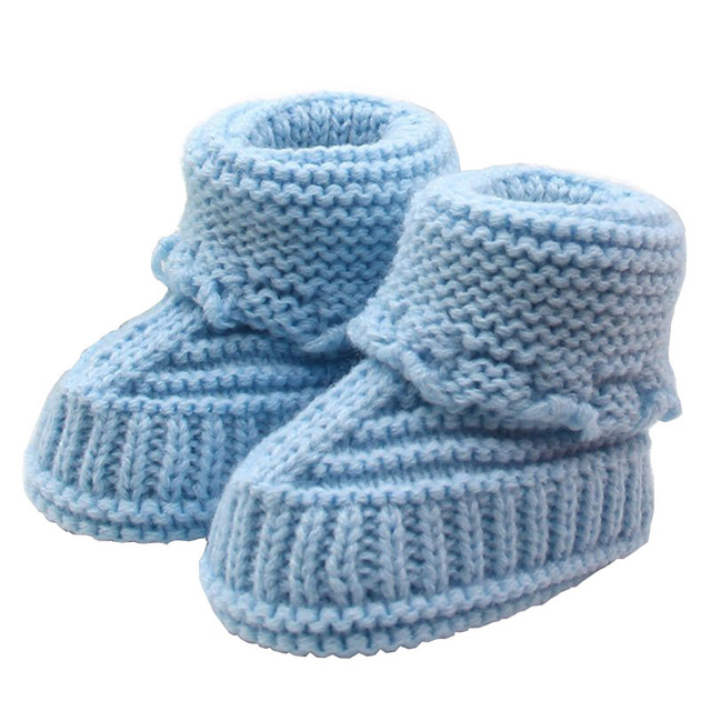 4602cf0ce20 US $2.89 22% OFF|Winter Handmade Newborn Baby Infant Boys Girls Casual  Crochet Knit Booties Crib Knitting Soft Comfort Boots Shoes-in First  Walkers ...