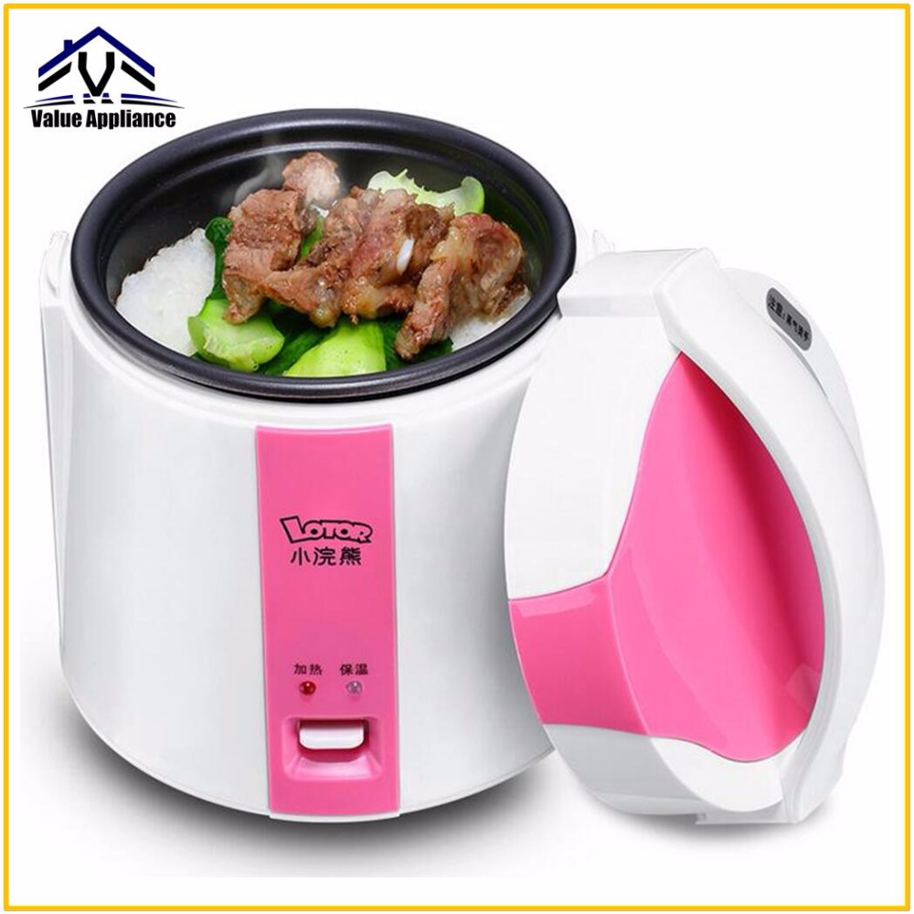 Quality MINI rice cooker insulation heating electric lunch box 3 layers Portable Steamer multifunction automatic Food Container dmwd mini rice cooker insulation heating electric lunch box 2 layers portable steamer multifunction automatic food container eu