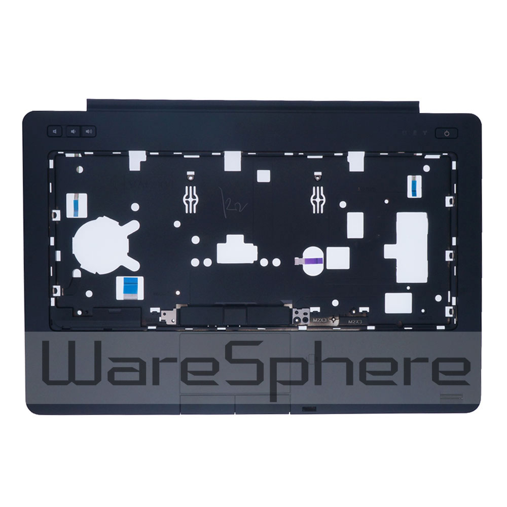 New Top Cover Upper Case W/ Touchpad, Fingerprint Scanner, Power button circuit board for Dell Latitude E6440 V7MXM AP0VG000120 neworig keyboard bezel palmrest cover lenovo thinkpad t540p w54 touchpad without fingerprint 04x5544
