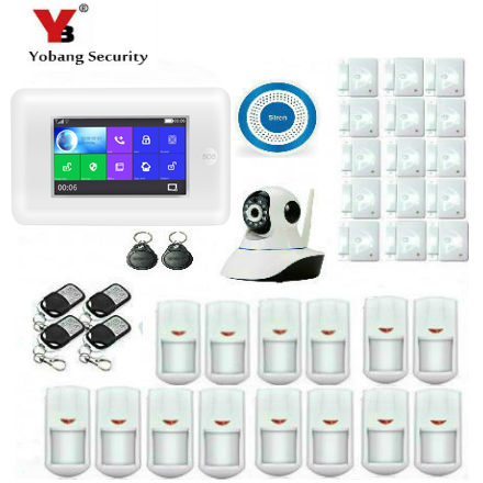 Yobang Security 4.3inch TFT Smart WIFI 3G Wireless Home Business Burglar Security Alarm System Water Leakage Sensor Detector