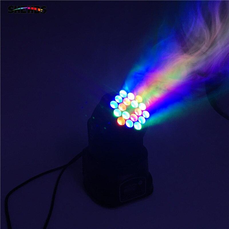 6pcs/lot LED Beam 18x3W RGB Moving Head Light LED Wash Moving Stage Lighting, Good for dj, stage 6pcs lot white color 132w sharpy osram 2r beam moving head dj lighting dmx 512 stage light for party