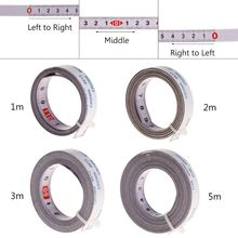 лучшая цена Miter Track Tape Measure Self Adhesive Metric Steel Ruler Miter Saw Scale For T-track Router Table Saw Band Stop Woodworking