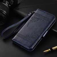 Flip Leather Case For Philips Xenium V387 Fundas Printed Flower 100% Special wallet stand case with Strap