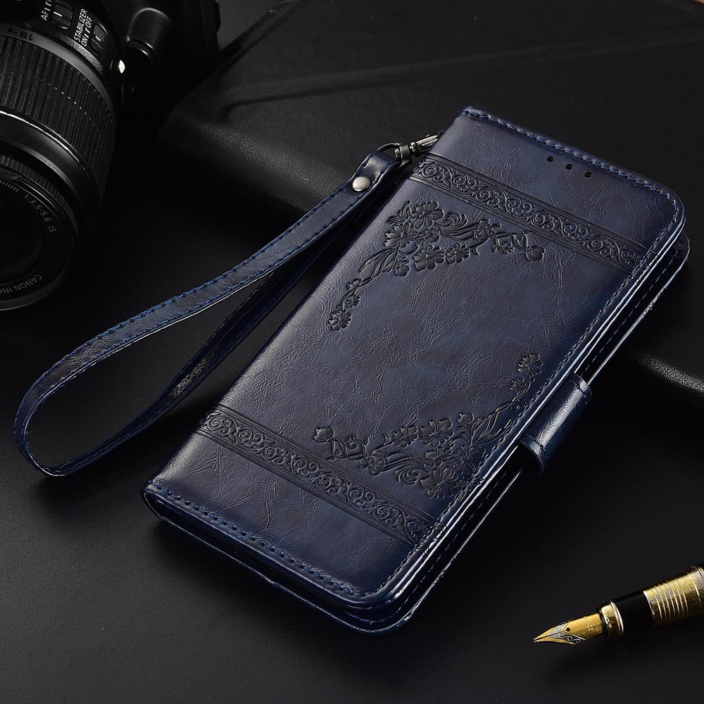 Flip Leather Case For <font><b>Philips</b></font> Xenium <font><b>V387</b></font> Fundas Printed Flower 100% Special wallet stand case with Strap image