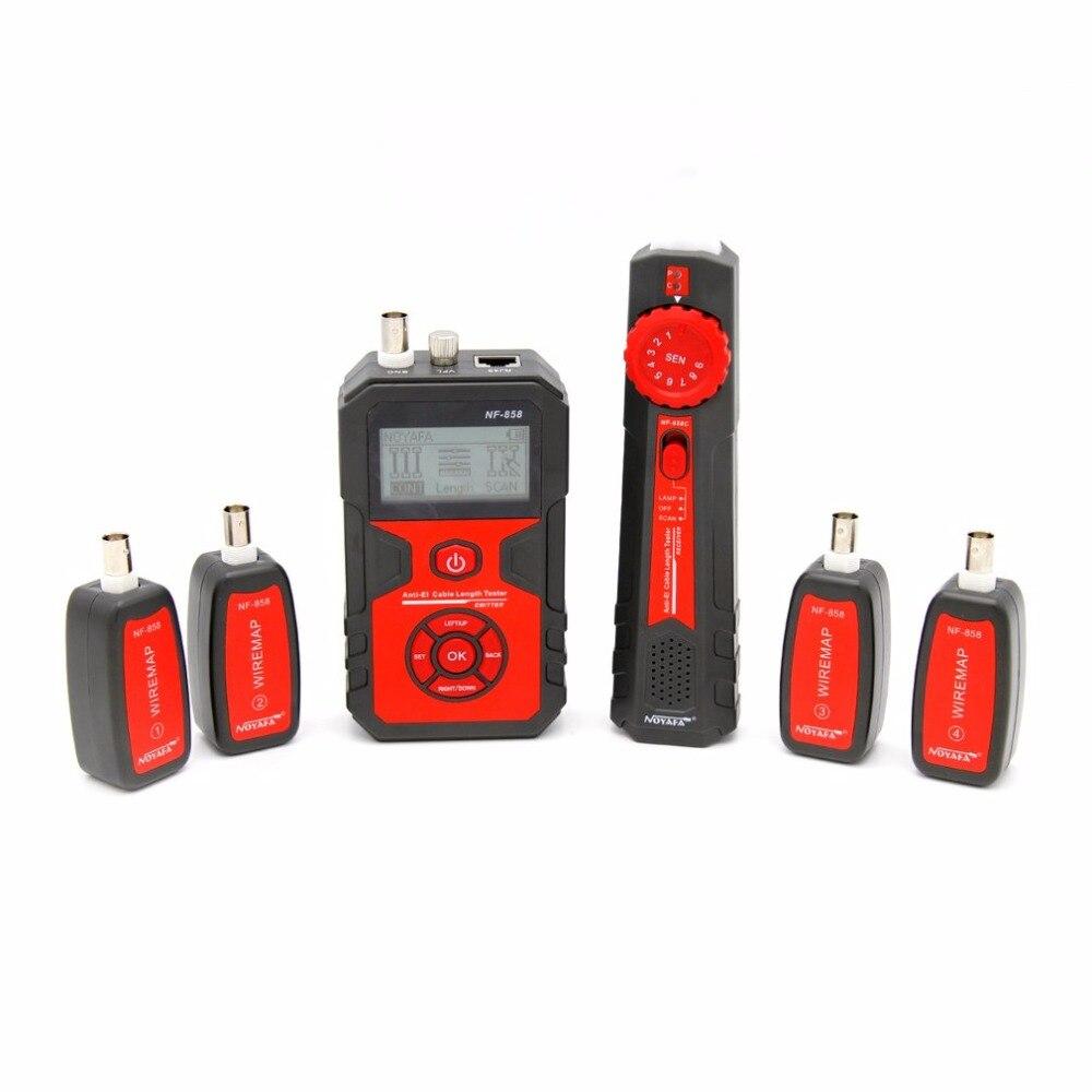 Localisateur de ligne de câble de NF-858 détecteur de câble de traqueur de fil portatif pour l'essai de câble de réseau ligne de câble de RJ11 RJ45 BNC - 6