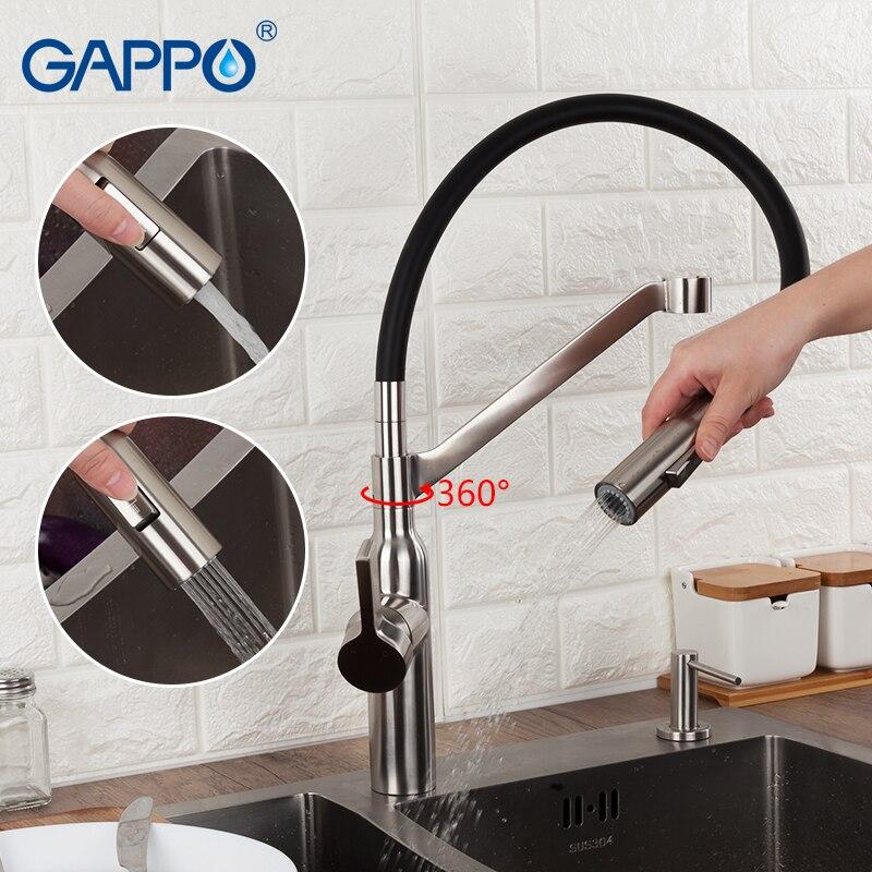 GAPPO robinet de cuisine mitigeur de cuisine robinet évier d'eau robinet de cuisine flexible poignée unique griferia torneira para cozinha