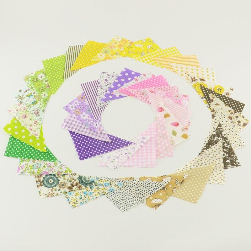 30 шт./лот, 10*10*14 см, треугольная хлопковая Лоскутная Ткань, Очаровательная упаковка, стеганая ткань без повторов, разные модели