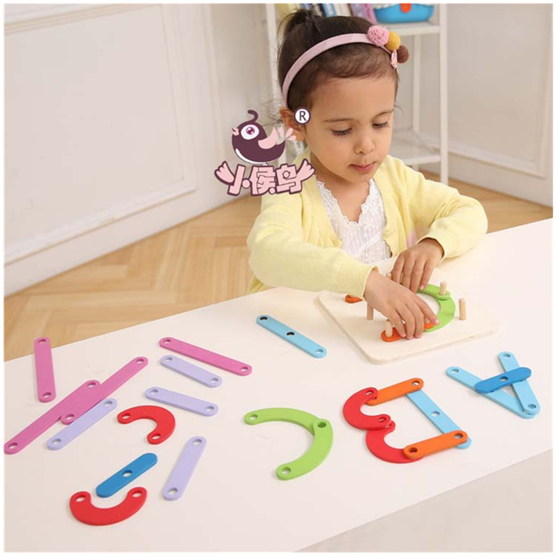 Baby Toys Montessori Toy Interesting Digital Alphabet Sets Wooden Building Blocks Educational Block toy gift delivery is free children s makeup geometric building blocks montessori teaching aids 8 sets wooden toys educational toys