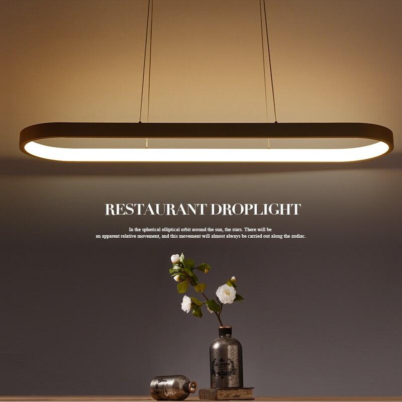 Nouvelle Creative moderne LED pendentif lumières Cuisine acrylique + métal suspension suspendus au plafond lampe pour salle à manger lamparas colgantes