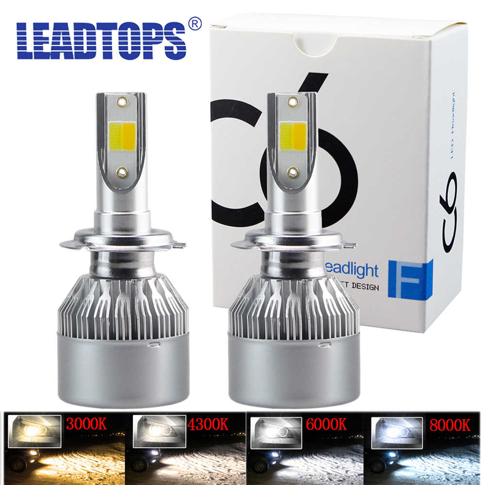 LEADTOPS 3000K-8000K H11 LED Car Headlights H1 H3 H4 H7 H8 H9 H13 9004 9005 9006 9007 9008 9012 LED Headlamps 6500K 60W 12V