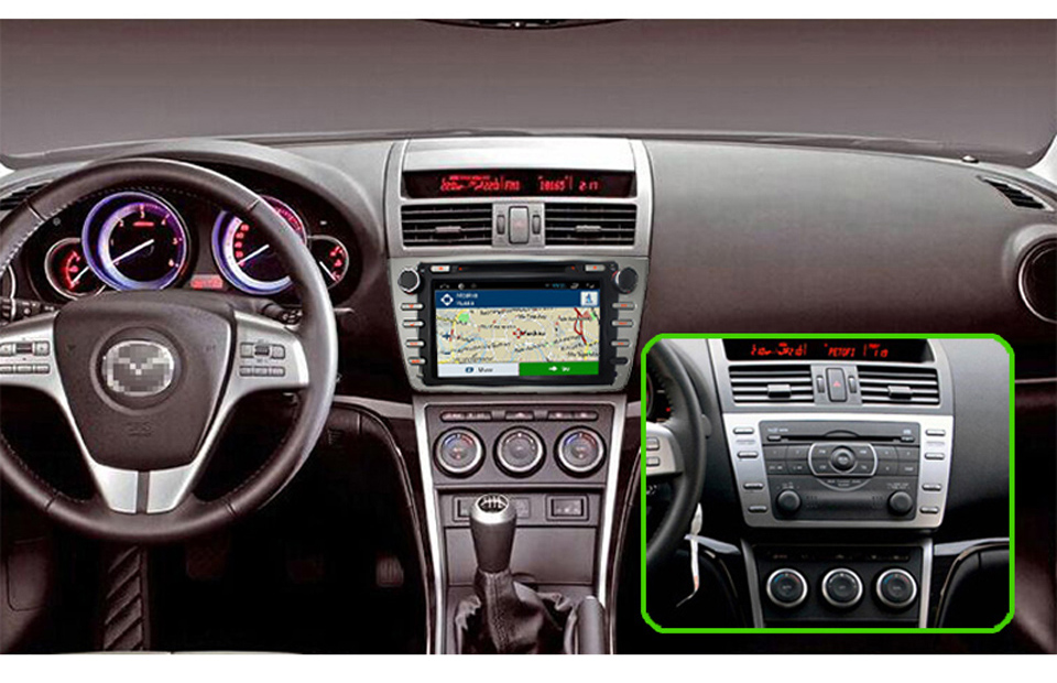 greenyi 4g ram android 8.0 car dvd for mazda 6 2008 2009 2010 2011