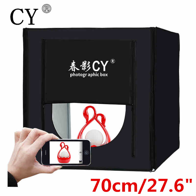 CY 70*70cm LED Photo Studio Softbox Shooting Light Tent Soft Box+Portable Bag+AC Adapter for Jewelry Toys Shoting Fast Shipping